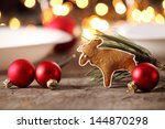 gingerbread cookie and... | Shutterstock . vector #144870298