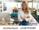 portrait of caucasian female... | Shutterstock . vector #1448703089