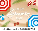 summer  beach background with... | Shutterstock .eps vector #1448707703
