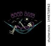Skeleton Camper In Hammock Goo...