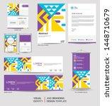 modern stationery mock up set... | Shutterstock .eps vector #1448710679
