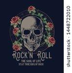 rock n roll symbol .vector... | Shutterstock .eps vector #1448722010