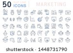 set of vector line icons of...   Shutterstock .eps vector #1448731790