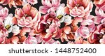 pattern with baroque peony all... | Shutterstock .eps vector #1448752400