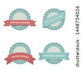 vintage badge vector design... | Shutterstock .eps vector #1448754026