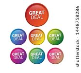 great deal   glossy labels or... | Shutterstock .eps vector #1448758286