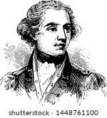 Banastre Tarleton, vintage engraved illustration