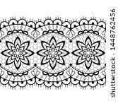 retro seamless lace vector... | Shutterstock .eps vector #1448762456