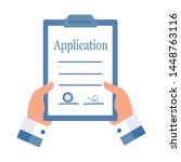 official application letter.... | Shutterstock .eps vector #1448763116