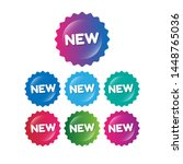 new realistic stickers and tags.... | Shutterstock .eps vector #1448765036