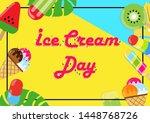 ice cream day. vector... | Shutterstock .eps vector #1448768726