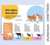 eid adha mubarak  online... | Shutterstock .eps vector #1448770643