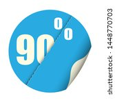 round sticker percent discount. ... | Shutterstock .eps vector #1448770703