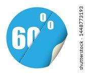 round sticker percent discount. ... | Shutterstock .eps vector #1448773193