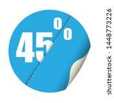 round sticker percent discount. ... | Shutterstock .eps vector #1448773226