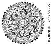 mandala lace vector pattern ... | Shutterstock .eps vector #1448773790
