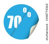 round sticker percent discount. ... | Shutterstock .eps vector #1448774363