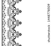 vector lace seamless pattern ... | Shutterstock .eps vector #1448778509