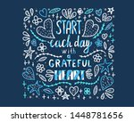 start each day with a grateful... | Shutterstock . vector #1448781656