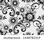 seamless lace retro vector... | Shutterstock .eps vector #1448782319