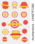 labels template set. retro... | Shutterstock .eps vector #1448797280