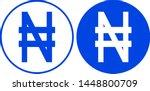 nigeria naira sign. vector... | Shutterstock .eps vector #1448800709