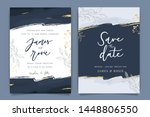 indigo blue set card wedding... | Shutterstock .eps vector #1448806550