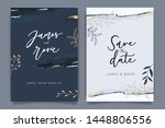 indigo blue set card wedding... | Shutterstock .eps vector #1448806556
