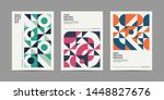 set of retro geometric shape... | Shutterstock .eps vector #1448827676