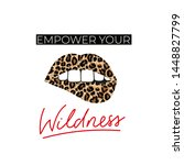 empower your wildness lettering ... | Shutterstock .eps vector #1448827799