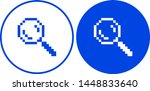 pixel search icon. vector... | Shutterstock .eps vector #1448833640