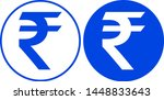 rupee icon in circle. vector... | Shutterstock .eps vector #1448833643