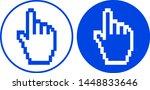 pixel hand cursor icon. vector... | Shutterstock .eps vector #1448833646