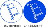 package icon in circle. vector... | Shutterstock .eps vector #1448833649