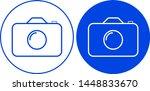 photo camera icon. vector... | Shutterstock .eps vector #1448833670