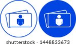 visit card icon. vector... | Shutterstock .eps vector #1448833673