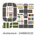 road constructor top view in...