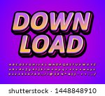 down load sticker alphabet ... | Shutterstock .eps vector #1448848910