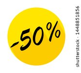 50  off circle icon with long... | Shutterstock .eps vector #1448851856
