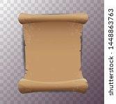 old vintage paper ribbon scroll ...   Shutterstock .eps vector #1448863763