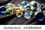 Colorful Marbles In A Close Up...