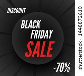 black friday sale round banner  ... | Shutterstock .eps vector #1448872610