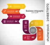 business infographic design... | Shutterstock .eps vector #1448875970