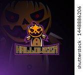 design logo hallowen dark...   Shutterstock . vector #1448886206