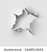 ragged hole torn in ripped... | Shutterstock .eps vector #1448914043