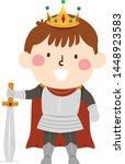 illustration of a kid boy... | Shutterstock .eps vector #1448923583