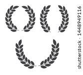 laurel wreaths vector. award... | Shutterstock .eps vector #1448949116