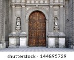 one of the entrances to the... | Shutterstock . vector #144895729