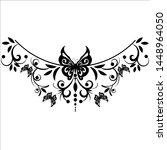 beautiful butterfly pattern... | Shutterstock .eps vector #1448964050