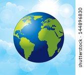 planet earth over sky... | Shutterstock .eps vector #144896830